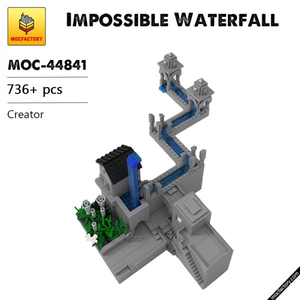 MOC 44841 Impossible Waterfall Creator by alvitvel MOC FACTORY - MOULD KING