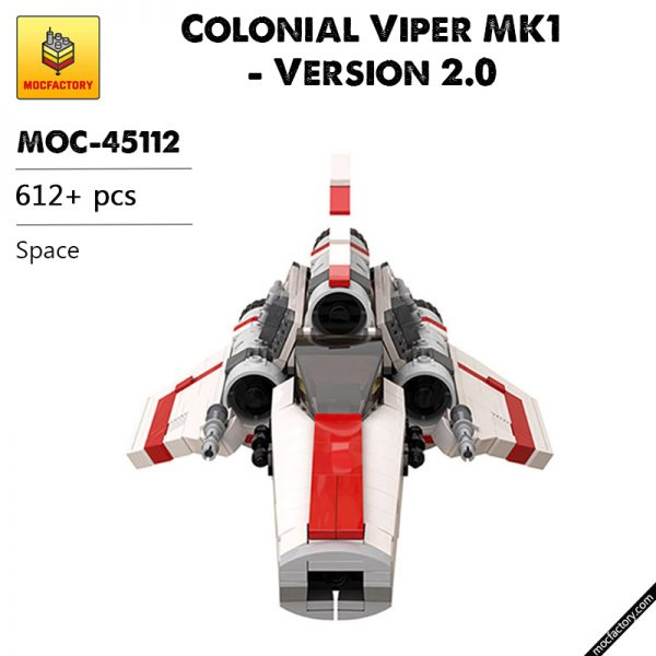 MOC 45112 Colonial Viper MK1 Version 2.0 Space by apenello MOC FACTORY 1 - MOULD KING