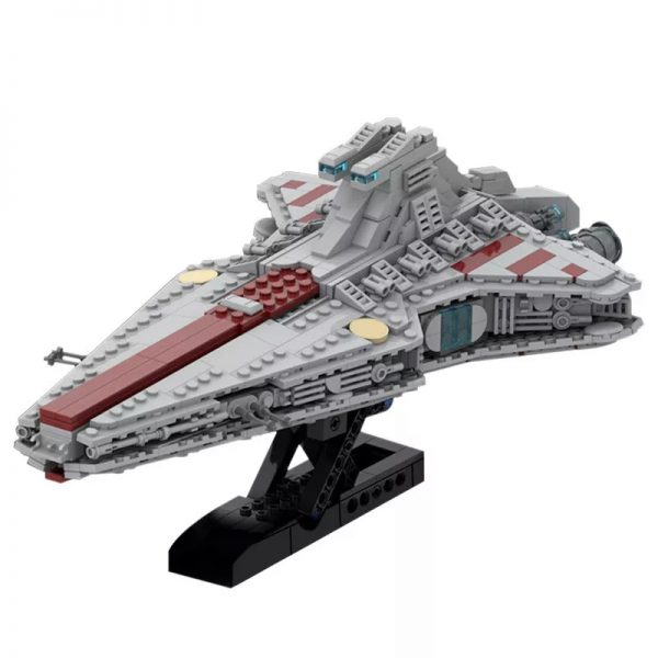 MOC 45566 Venator Class Republic attack cruiser Star Wars by Red5 Leader MOCFACTORY 2 - MOULD KING