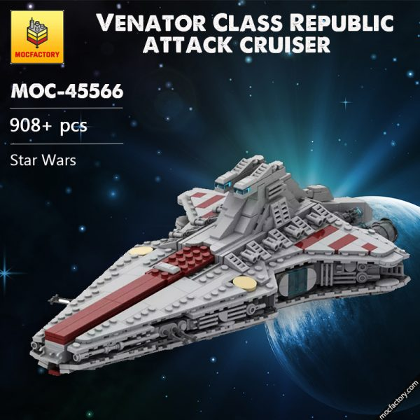 MOC 45566 Venator Class Republic attack cruiser Star Wars by Red5 Leader MOCFACTORY - MOULD KING