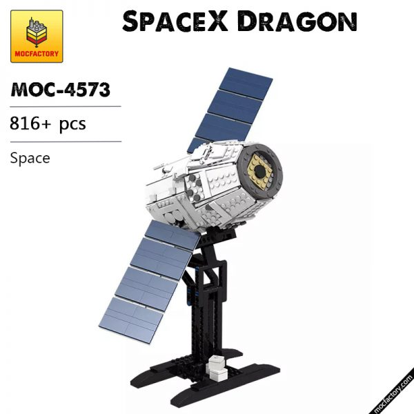 MOC 4573 SpaceX Dragon Space by Perijove MOC FACTORY - MOULD KING