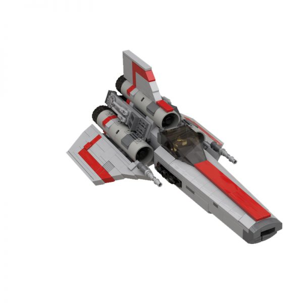 MOC 45867 Colonial Viper MK1 Version 20 Gray Space by apenello MOC FACTORY 2 - MOULD KING
