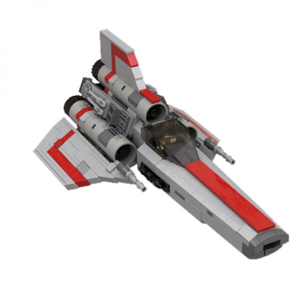 MOC 45867 Colonial Viper MK1 Version 20 Gray Space by apenello MOC FACTORY 3 - MOULD KING