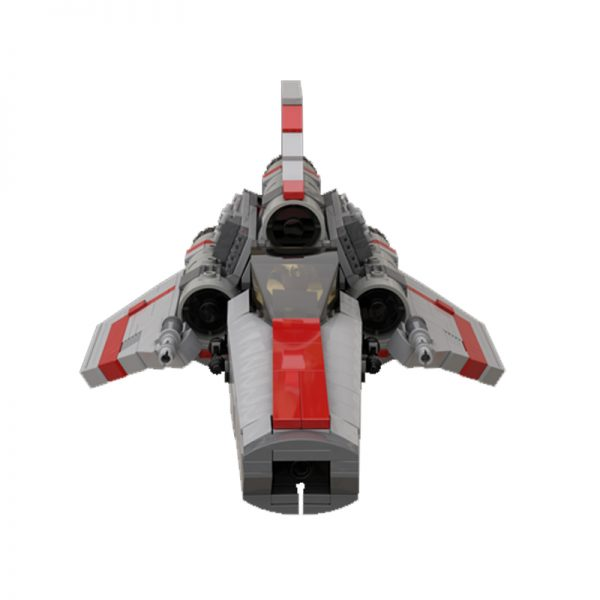 MOC 45867 Colonial Viper MK1 Version 20 Gray Space by apenello MOC FACTORY 5 - MOULD KING