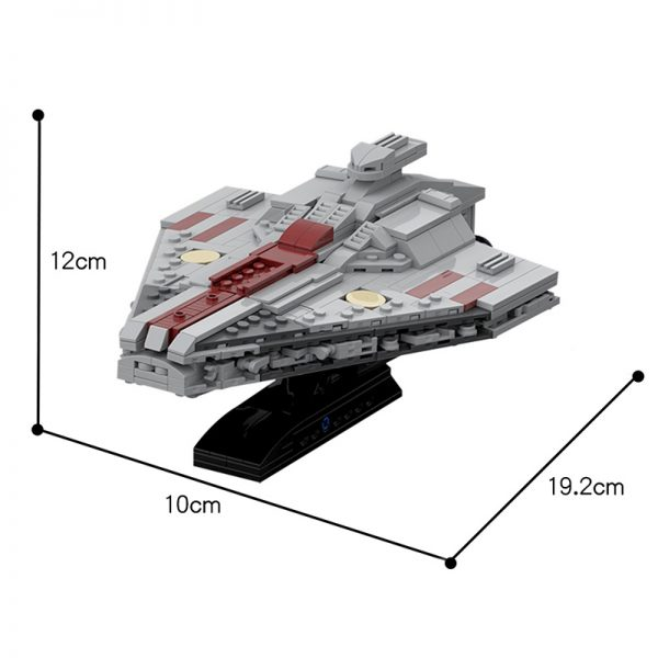 MOC 45934 Acclamator Assault ship and Arquitens Light cruiser Star Wars 2 - MOULD KING