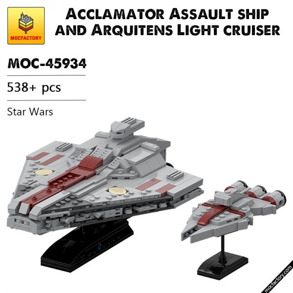 MOC 45934 Acclamator Assault ship and Arquitens Light cruiser Star Wars - MOULD KING