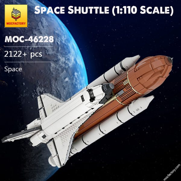 MOC 46228 Space Shuttle 1110 Scale Space by KingsKnight MOC FACTORY - MOULD KING