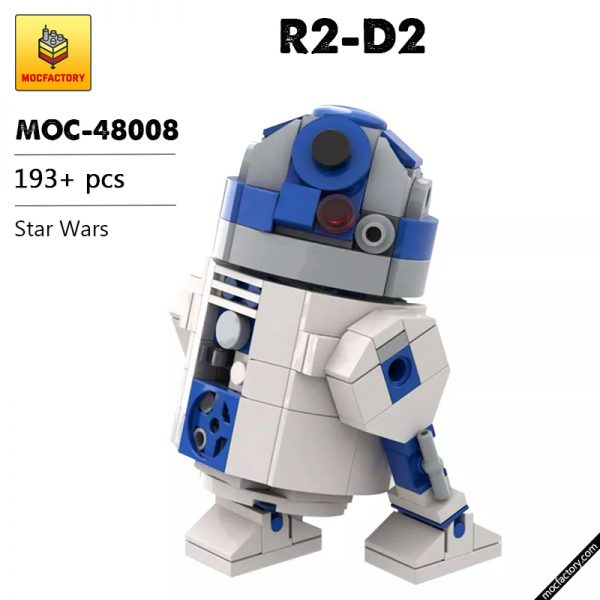 MOC 48008 R2 D2 Star Wars by Jean Bomber MOC FACTORY - MOULD KING
