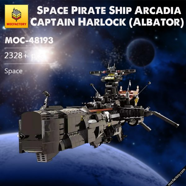 MOC 48193 Space Pirate Ship Arcadia Captain Harlock Albator Space by apenello MOC FACTORY - MOULD KING