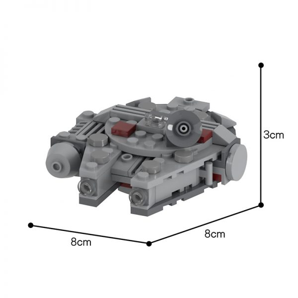 MOC 48537 Movie Accurate Millennium Falcon Microfighter Star Wars by UnlocktheBrick MOC FACTORY 2 - MOULD KING