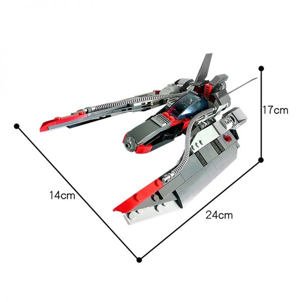 MOC 48831 Star Fighter Space Ship Space by MadMocs MOC FACTORY 3 - MOULD KING