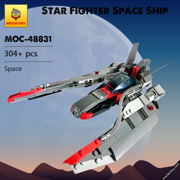 MOC 48831 Star Fighter Space Ship Space by MadMocs MOC FACTORY - MOULD KING