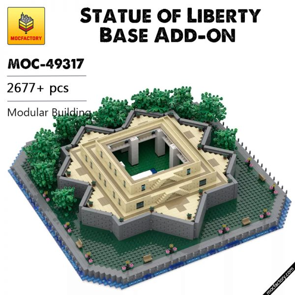 MOC 49317 Statue of Liberty Base Add on Modular Building by adambetts MOC FACTORY - MOULD KING
