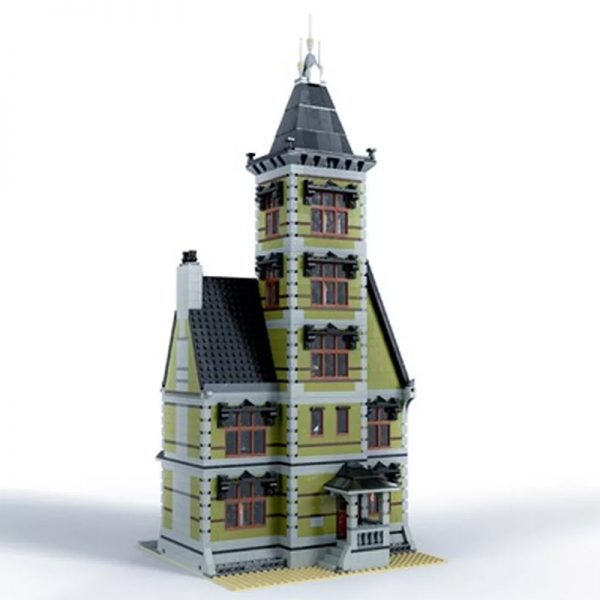 MOC 49479 Old Mansion 10273 Haunted House Modular Modification Modular Buildings by Das Felixle MOC FACTORY4 - MOULD KING