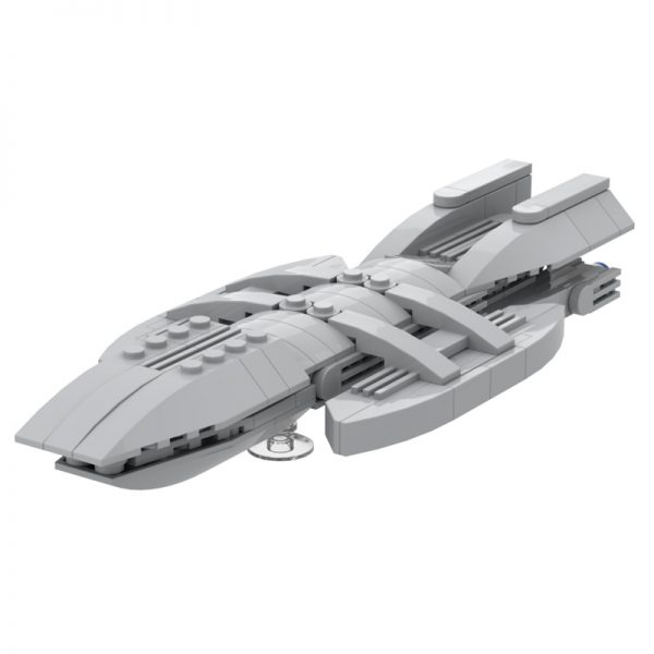 MOC 49804 Micro Battlestar Galactica Space by neroz MOC FACTORY 4 - MOULD KING