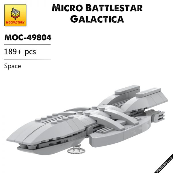 MOC 49804 Micro Battlestar Galactica Space by neroz MOC FACTORY - MOULD KING
