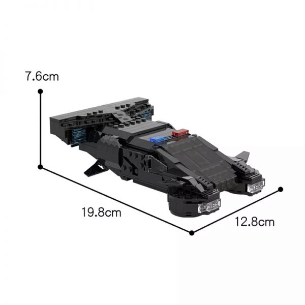 MOC 50095 Cyberpunk 2077 MAX TAC Police Vehicle From 2013 Teaser Trailer Technic by YCBricks MOC FACTORY 7 - MOULD KING
