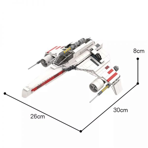 MOC 50114 E Wing Starfighter Star Wars by NeoSephiroth MOC FACTORY 2 - MOULD KING
