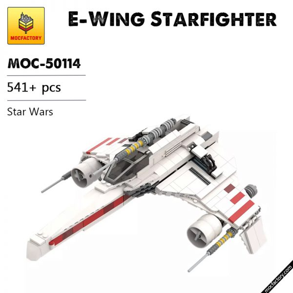 MOC 50114 E Wing Starfighter Star Wars by NeoSephiroth MOC FACTORY - MOULD KING