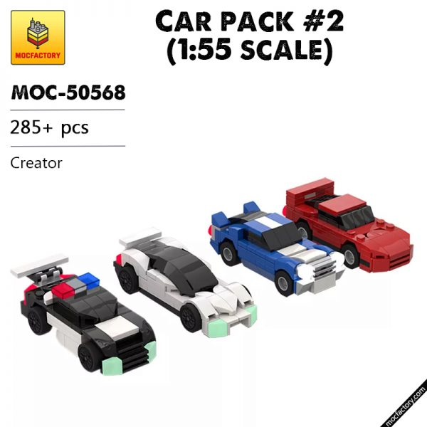 MOC 50568 Car pack 2 155 scale Creator by Mobilbenja FACTORY - MOULD KING