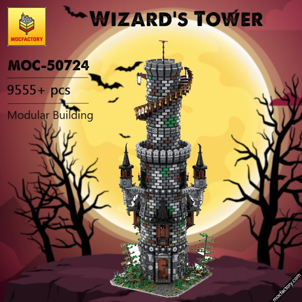 MOC 50724 Wizards Tower Modular Building by povladimir MOC FACTORY - MOULD KING