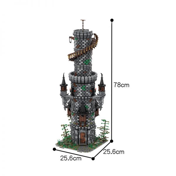 MOC 50724 Wizards Tower Modular Building by povladimir MOC FACTORY 9 - MOULD KING