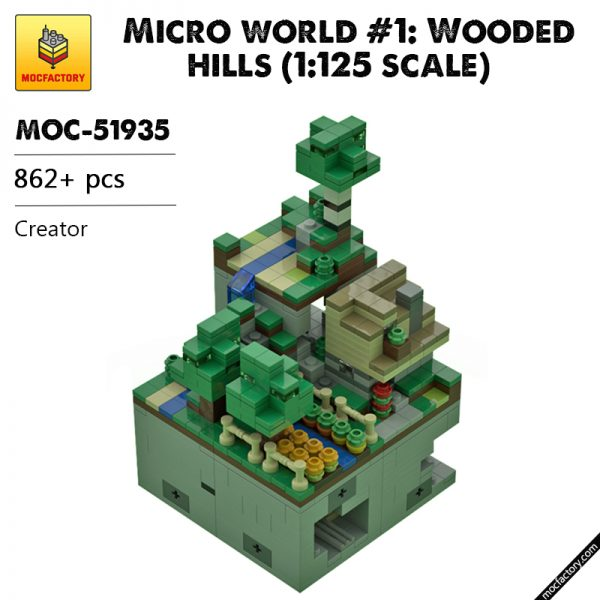 MOC 51935 Micro world 1 Wooded hills 1125 scale Creator by Mobilbenja MOC FACTORY - MOULD KING