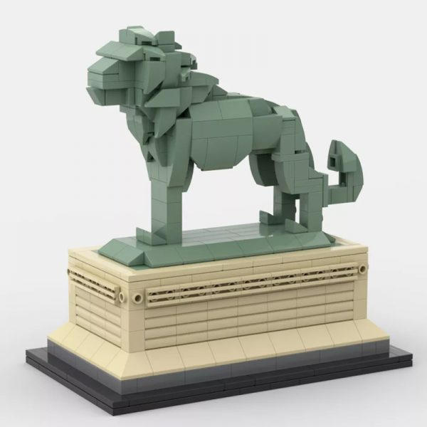 MOC 53134 Art Institute Lion Creator by bric 2 - MOULD KING