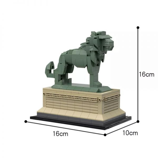 MOC 53134 Art Institute Lion Creator by bric 5 - MOULD KING