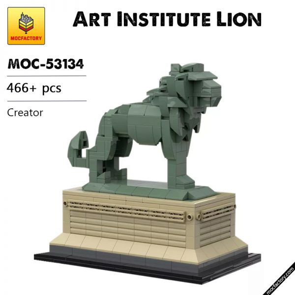 MOC 53134 Art Institute Lion Creator by bric.ole MOC FACTORY - MOULD KING
