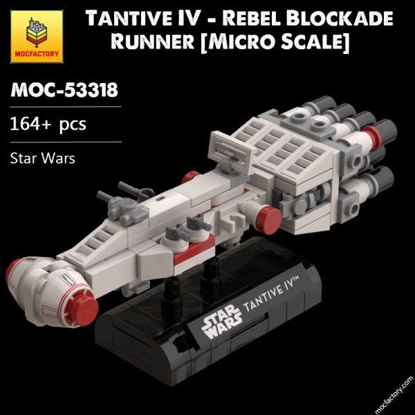 MOC 53318 Tantive IV Rebel Blockade Runner Micro Scale Star Wars by Xigphir MOC FACTORY - MOULD KING