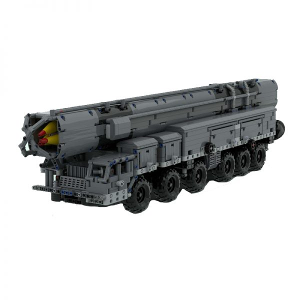 MOC 53753 MAZ 547 with RSD 10 Pioneer SS 20 Sabre Military by zz0025 MOC FACTORY 2 - MOULD KING
