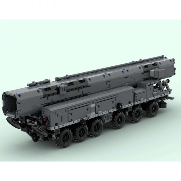 MOC 53753 MAZ 547 with RSD 10 Pioneer SS 20 Sabre Military by zz0025 MOC FACTORY 3 - MOULD KING