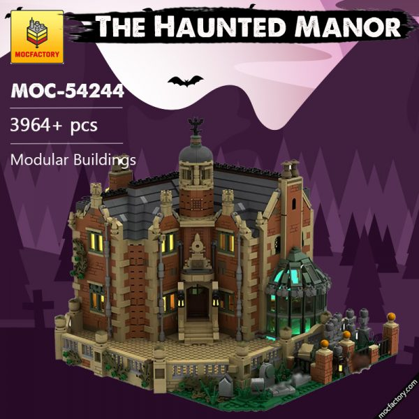 MOC 54244 The Haunted Manor Modular Buildings by ZeRadman MOC FACTORY 2 - MOULD KING