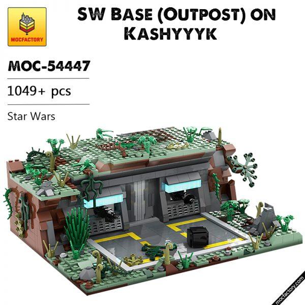MOC 54447 SW Base Outpost on Kashyyyk Star Wars by MOCOPOLIS MOC FACTORY - MOULD KING