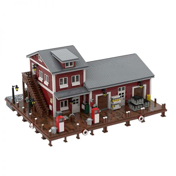 MOC 54693 Dockside Fuel and Oil Modular Building by jepaz MOC FACTORY 2 - MOULD KING