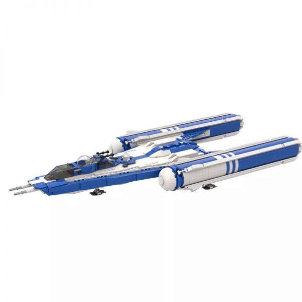 MOC 55736 Y wing Starfighter blue Star Wars by starwarsfan66 MOC FACTORY 2 - MOULD KING