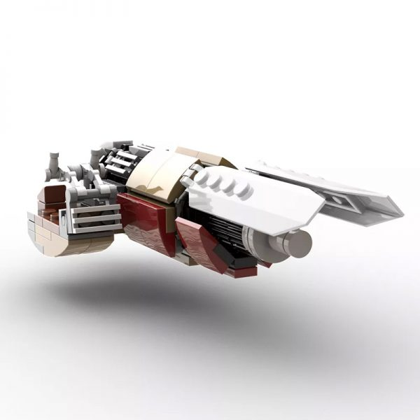 MOC 55797 The Marshalls Swoop Bike from The Mandalorian Version 2 v2 - MOULD KING