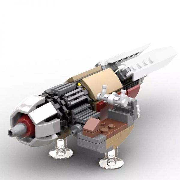 MOC 55797 The Marshalls Swoop Bike from The Mandalorian Version 2 v5 - MOULD KING
