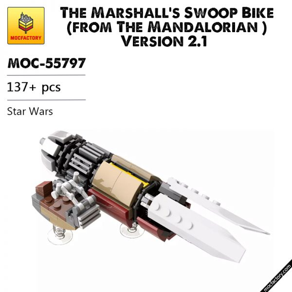 MOC 55797 The Marshalls Swoop Bike from The Mandalorian Version 2.1 Star Wars by thomin MOC FACTORY - MOULD KING