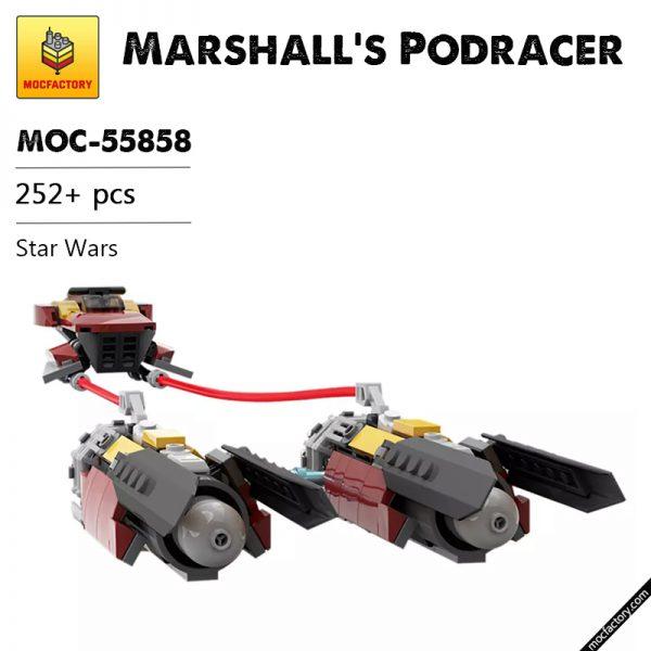 MOC 55858 Marshalls Podracer Star Wars by JohndieRocks MOC FACTORY - MOULD KING