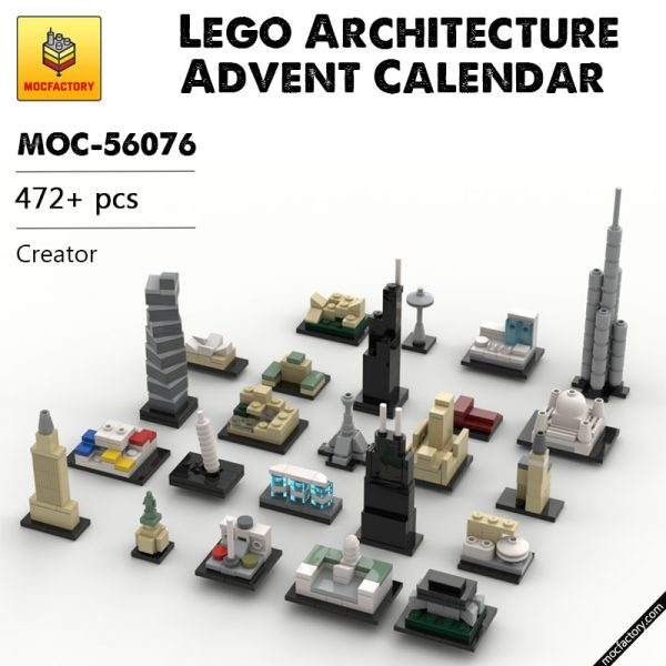 MOC 56076 Lego Architecture Advent Calendar Creator by klosspalatset MOC FACTORY - MOULD KING