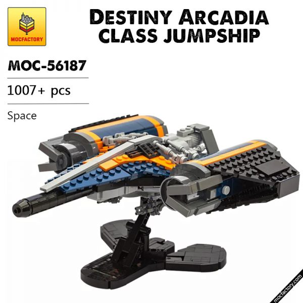 MOC 56187 Destiny Arcadia class jumpship Space by legobodgers MOC FACTORY - MOULD KING