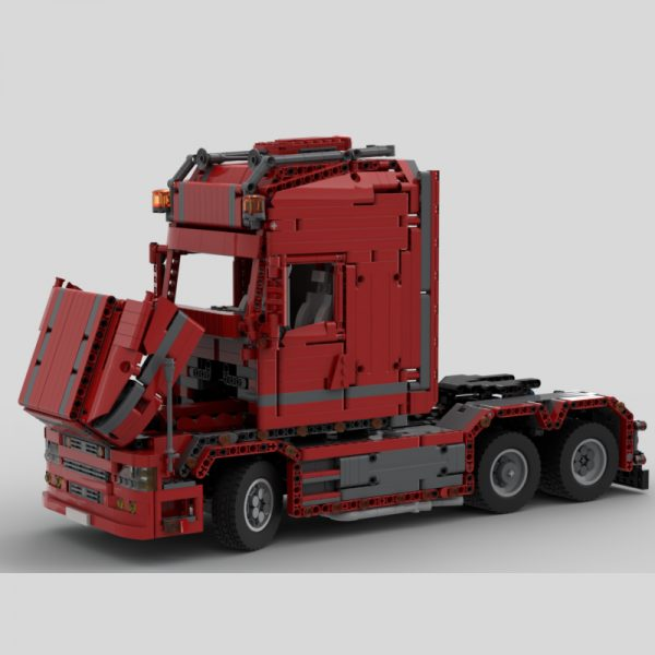 MOC 57465 Scania Truck T 580 Torpedo Technic by Furchtis MOC FACTORY 3 - MOULD KING