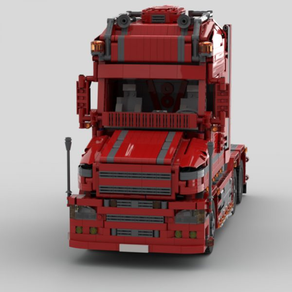 MOC 57465 Scania Truck T 580 Torpedo Technic by Furchtis MOC FACTORY 4 - MOULD KING