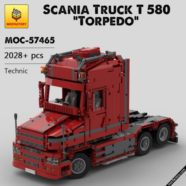 MOC 57465 Scania Truck T 580 Torpedo Technic by Furchtis MOC FACTORY - MOULD KING