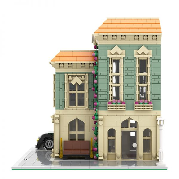 MOC 57981 Modular Post Office Delivery Car Modular Building by MOCExpert MOC FACTORY 5 - MOULD KING