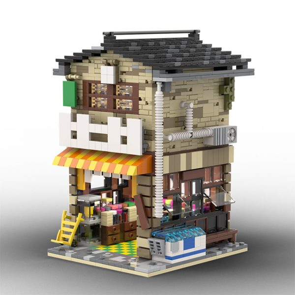 MOC 58773 Japanese Stores Modular Building by povladimir MOC FACTORY 3 - MOULD KING