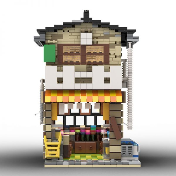 MOC 58773 Japanese Stores Modular Building by povladimir MOC FACTORY 6 - MOULD KING
