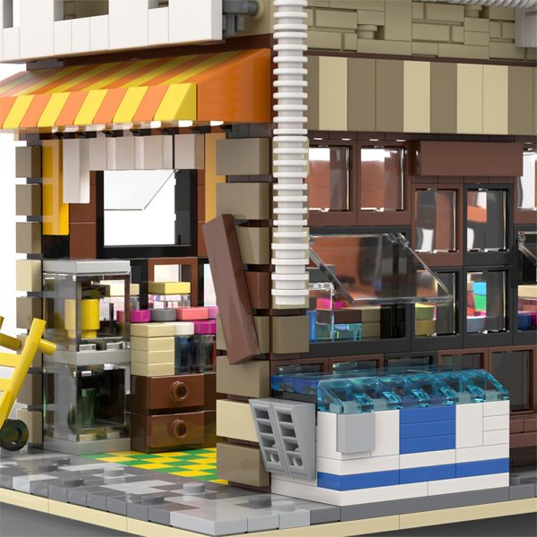 MOC 58773 Japanese Stores Modular Building by povladimir MOC FACTORY 7 - MOULD KING